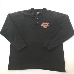 Vintage Harley Davidson Henley LS shirt